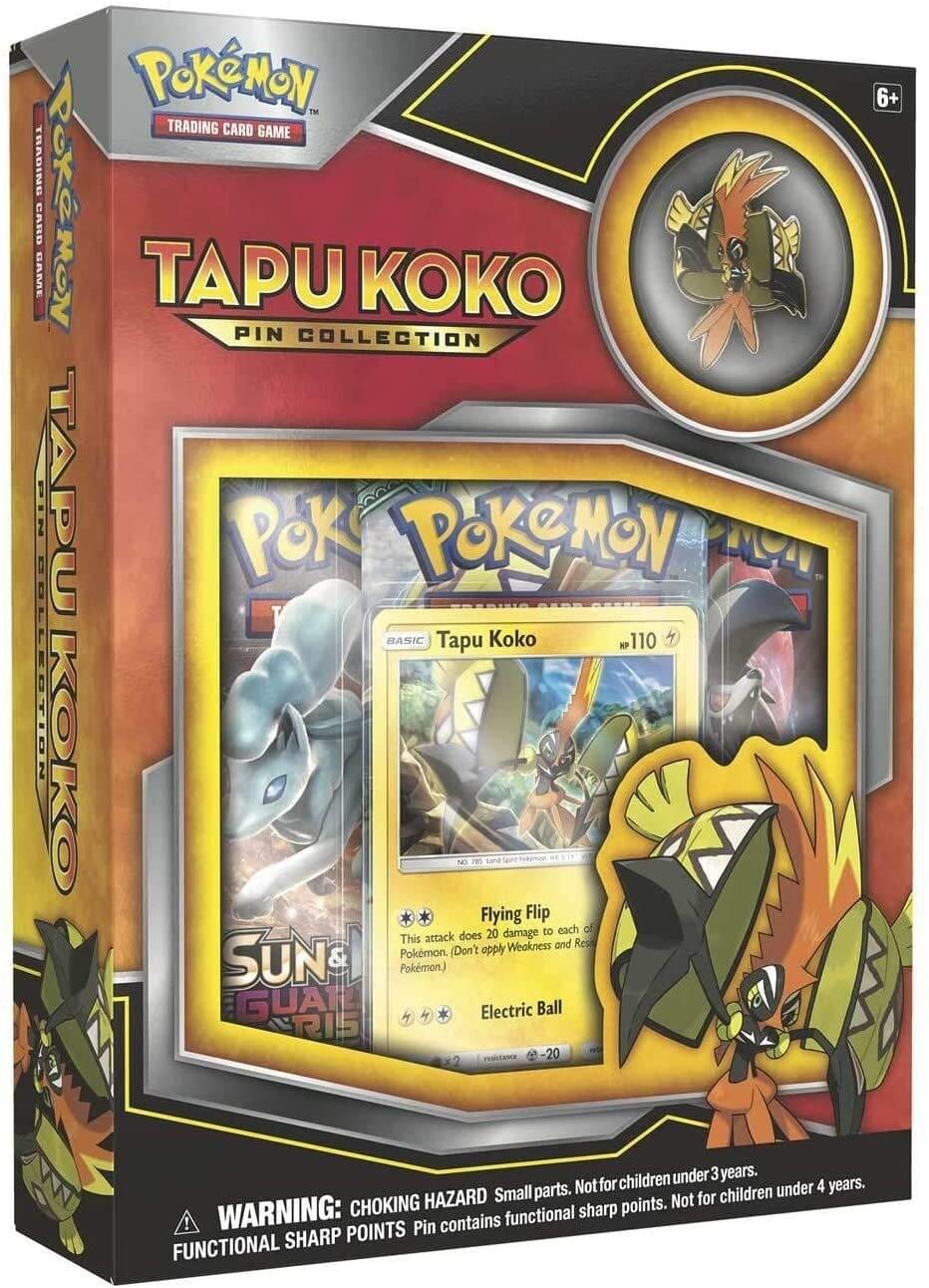 Pokemon Tapu Koko Pin Collection Box