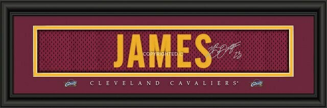Cleveland Cavaliers 8x24 LeBron James Framed Picture