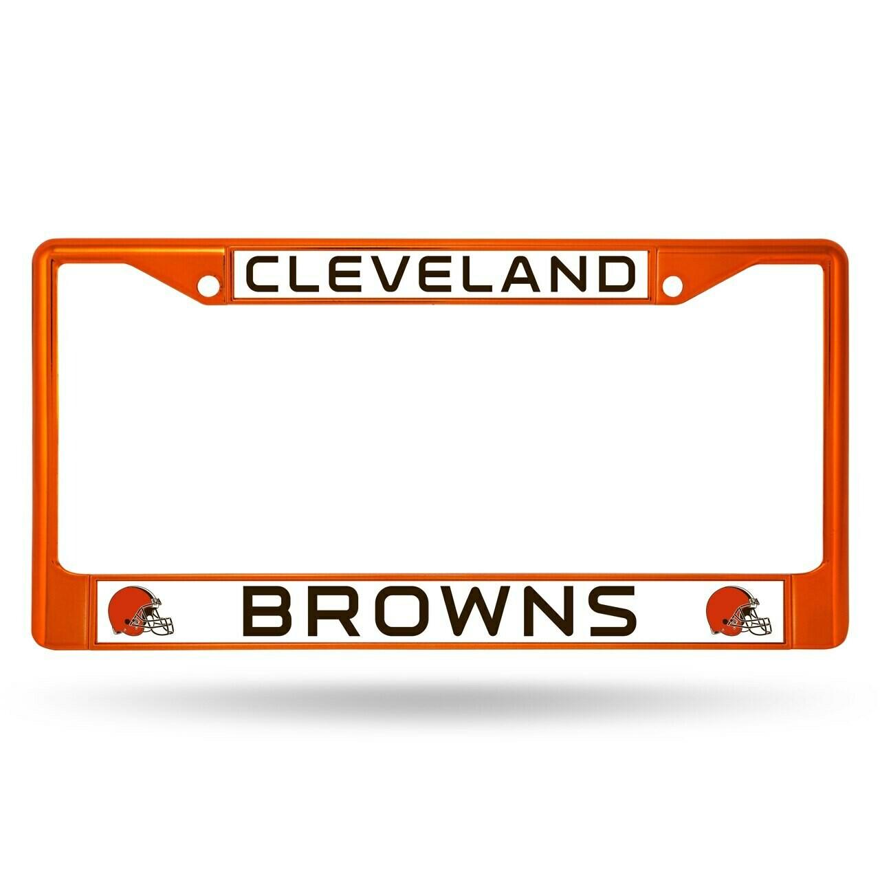 Cleveland Browns Chrome License Plate Frame