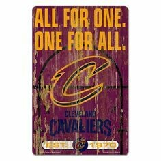Cleveland Cavaliers Slogan Wood Sign