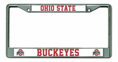 Ohio State Buckeyes Chrome License Plate Frame