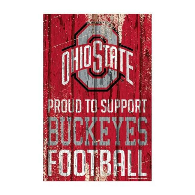 Ohio State Buckeyes Proud To Support Wood Sign