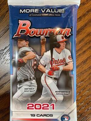 2021 Bowman Baseball Value Pack