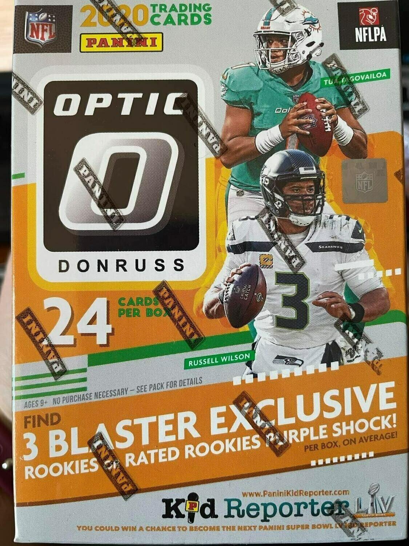 2020 Donruss Optic Football Blaster-Purple Shock