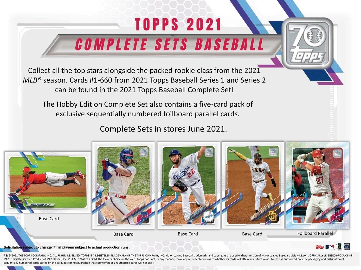 2021 Topps Complete Set