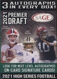 2021 Sage Premier Draft Football Blaster