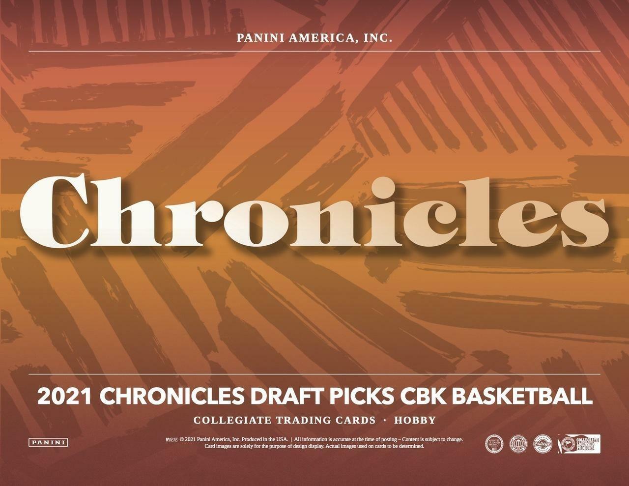 2020/21 Panini Chronicles Draft Picks Basketball Box