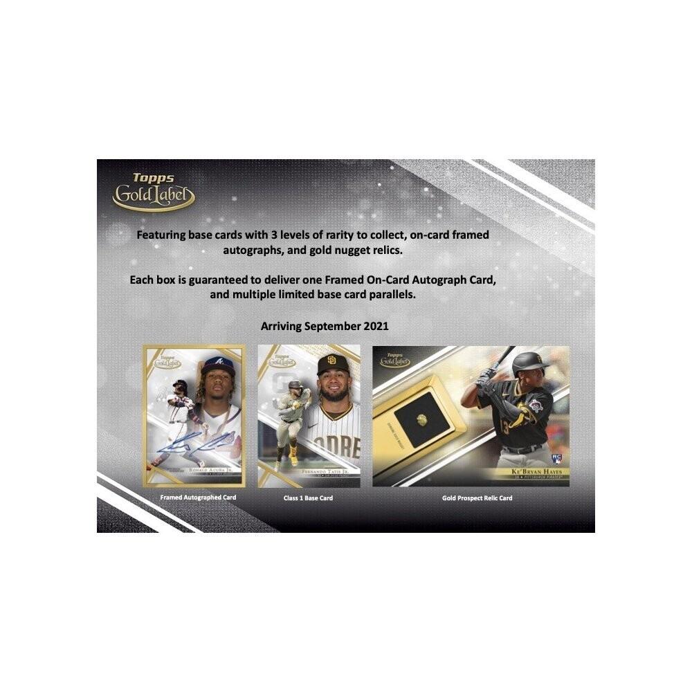 2021 Topps Gold Label Hobby Box