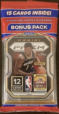 2020/21 Panini Prizm NBA Cello Pack