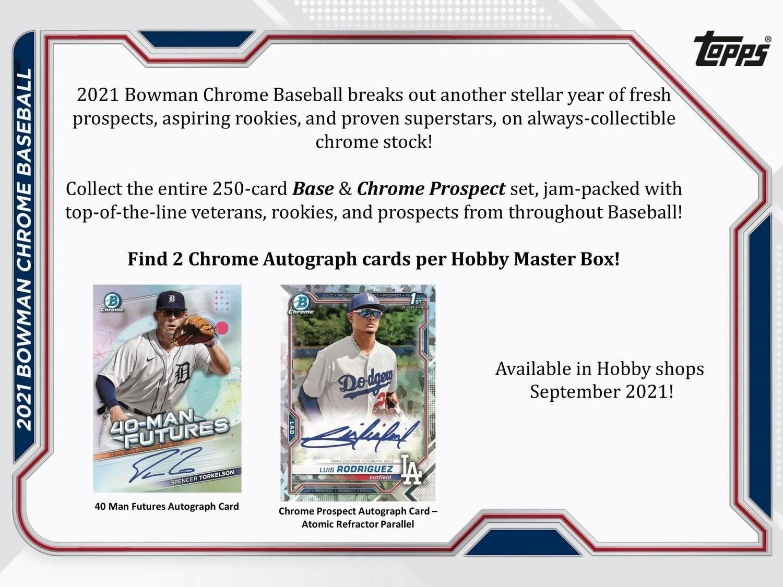 2021 Bowman Chrome Hobby Box