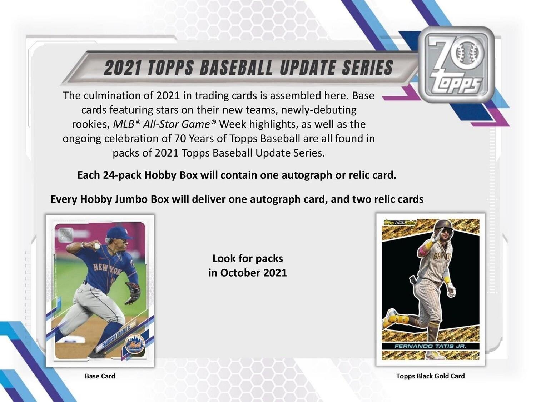 2021 Topps Update Hobby Box
