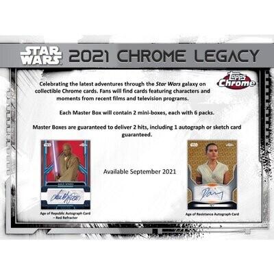 2021 Topps Star Wars Chrome Legacy Box