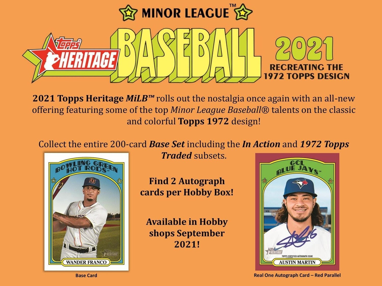 2021 Topps Heritage Minor League Box