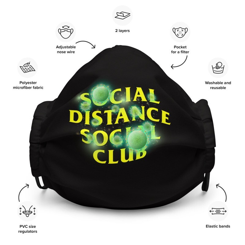 Social Distance Social Club Premium Face Mask