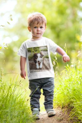 Παιδικό T-shirt Sol's με φωτογραφία, λευκό