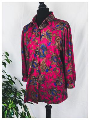 Vintage Paisley Floral Blouse