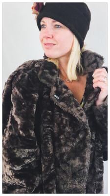 Vintage 80's Faux Fur Coat