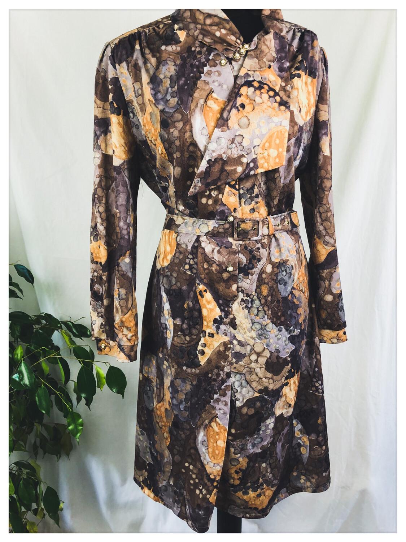 Vintage 80's Belted Dress Size 46