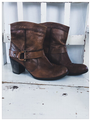 Next Leather Slouch Boots Size 41