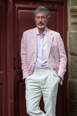 'Renzo' Pink Linen Jacket