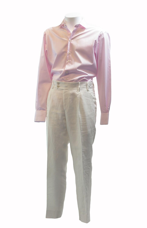 'Venezia' Soft Cream Linen Trouser
