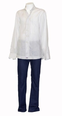 Double-breasted Linen Shirt