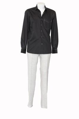 Soft Silk Finish Black Cotton Shirt
