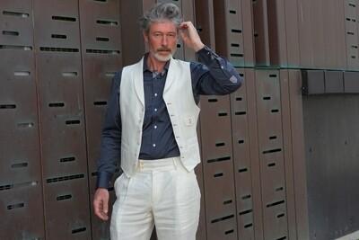 Cream Linen 'Napoli' Trouser