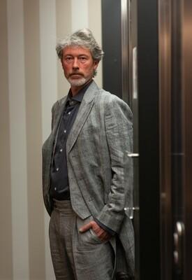 Grey Redingote Washed Linen 'Holliday' Jacket