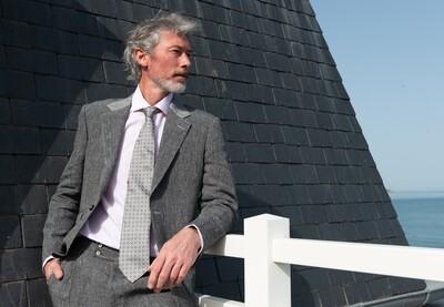 'Stefano' Washed Irish Linen Jacket