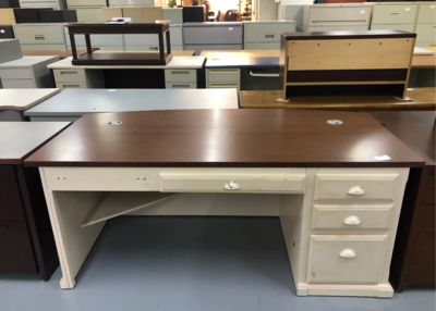 Standard Desk with Bow Front