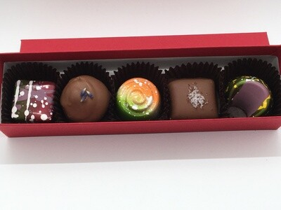 5-piece box of chocolates