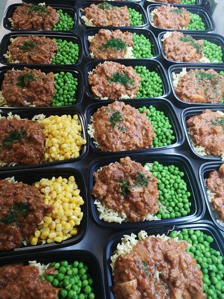 Ground Beef Stroganoff with Mushrooms, Vegetables & Egg Noodles