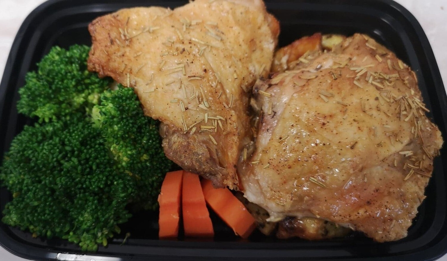 Baked Rosemary Chicken with Vegetables & Roasted Potatoes