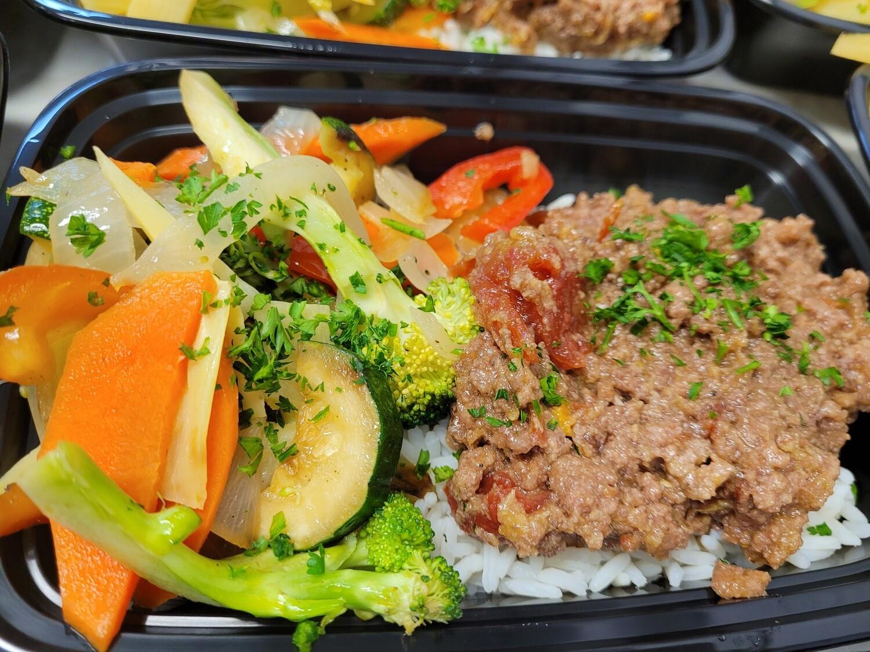 Korean Ground Beef Stir Fry with Rice