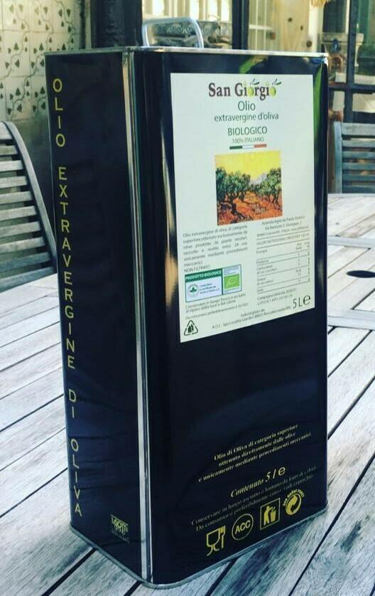 Olio extravergine d'oliva BIO - Lattina lt 5,0