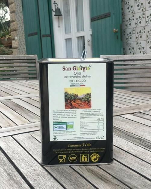 Olio extravergine d'oliva BIO - Lattina lt 3,0