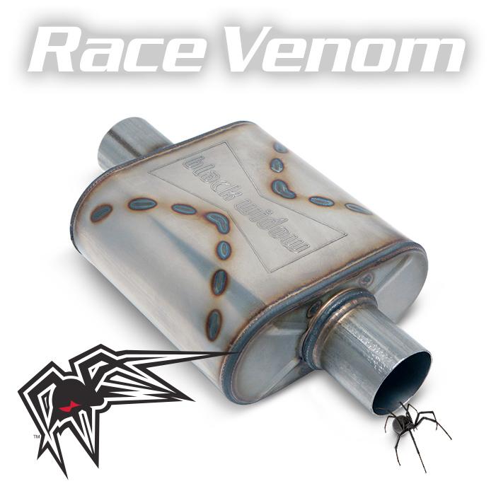 """Black Widow BW009-C Race Venom Series Muffler 2.5"""" C/C For Universal"""