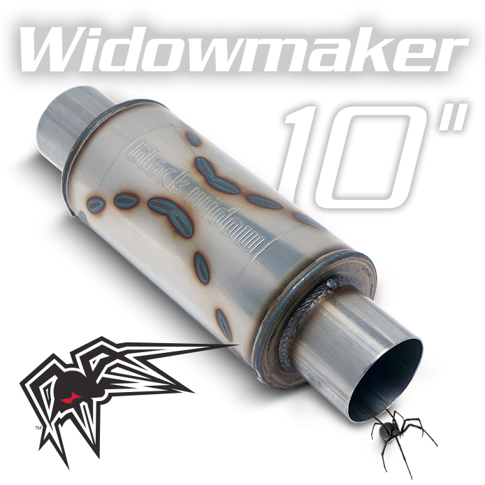 "Black Widow BW0013-3, StainlessSteel, Widowmaker 10 3"" Exhst Mfflr For Universal"