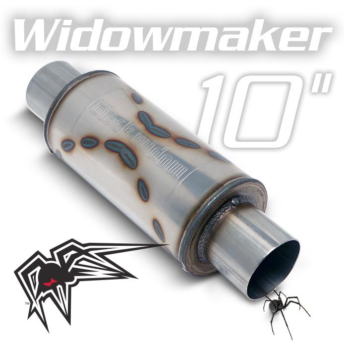 """Black Widow BW0013-2, Widow Maker 10"""" Exhaust Muffler For Universal"""