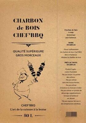 Charbon de bois Chef'BBQ 5kg