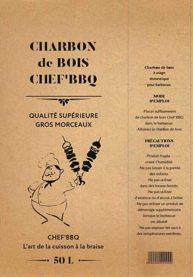 Charbon de bois Chef'BBQ 50L