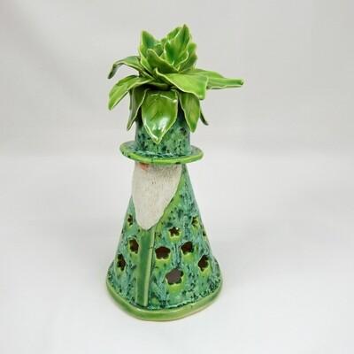 Garden Gnome Luminaria - Leaf Head