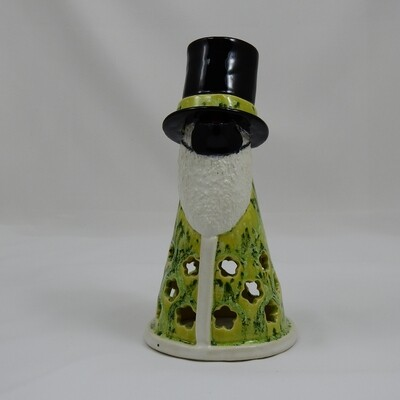Gnome Luminaria with Top Hat - Light Green