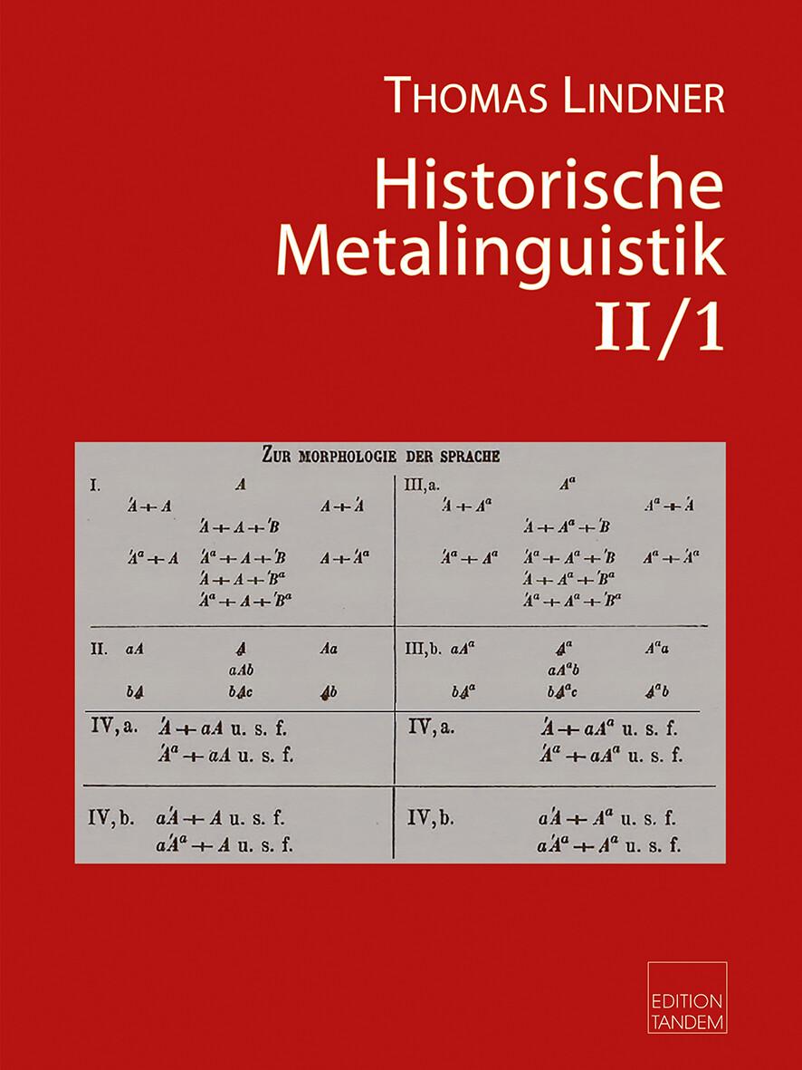 Historische Metalinguistik II/1