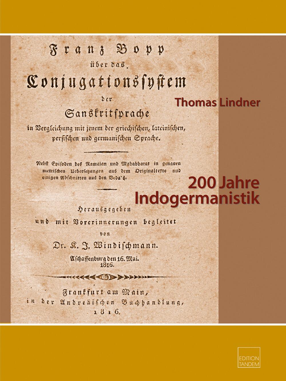 200 Jahre Indogermanistik Paket Bd. 1 + 2