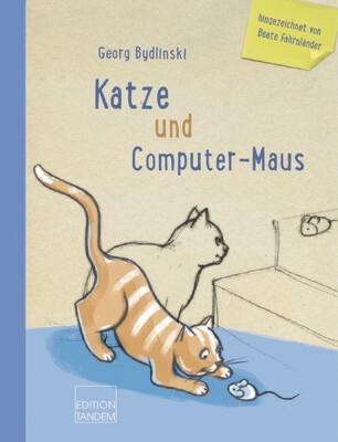 Katze und Computer-Maus