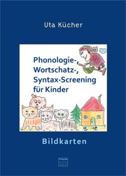 Phonologie-, Wortschatz- und Syntax-Screening für Kinder - 28 farbige Bildkarten auf Karton