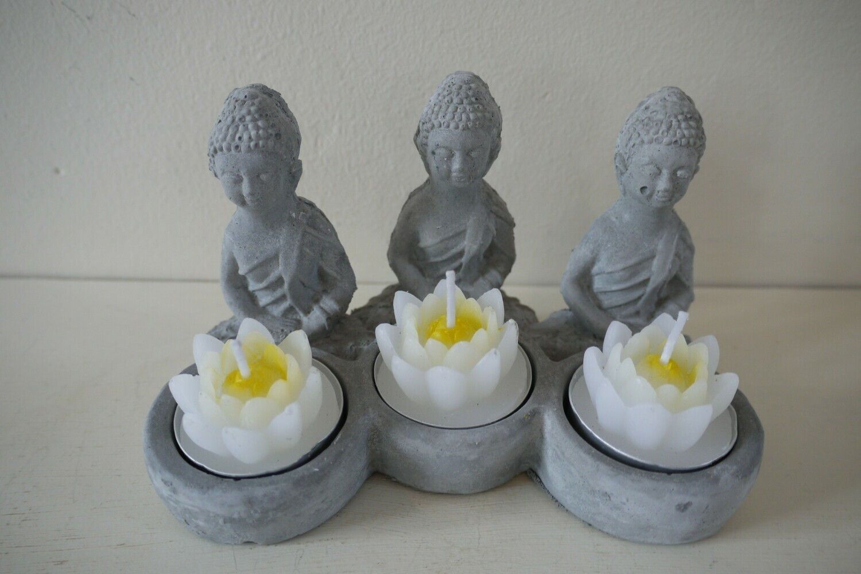 Buddha and Lotus Tealight Candle Holder