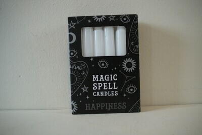 Spell Candles White (Happiness)